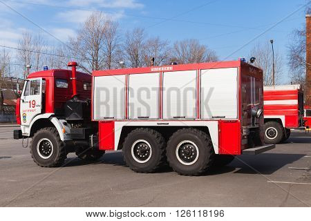 Kamaz 43253, Red White Russian Fire Engine