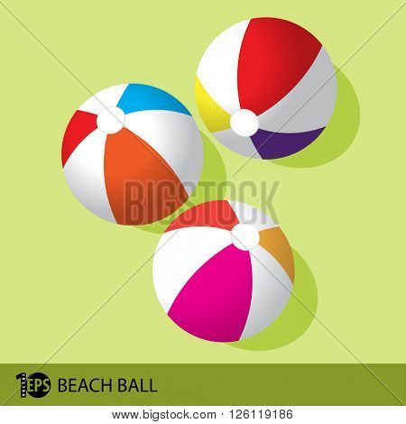 beach balls, eps10 vector