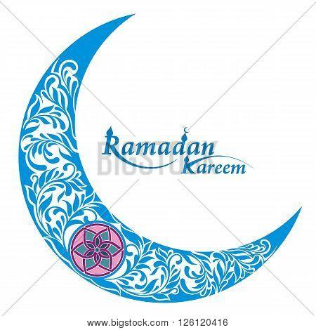 Decorative moon for holy month of muslim community Ramadan Kareem.
