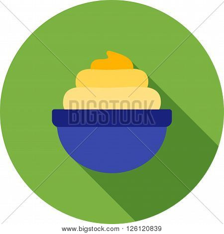 Cream, whipped, bakery icon vector image.Can also be used for bakery. Suitable for mobile apps, web apps and print media.