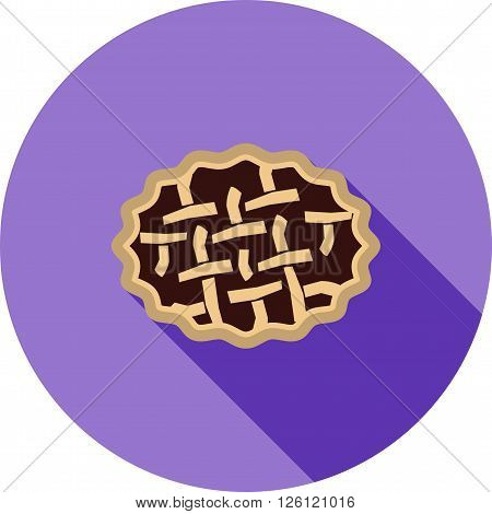 Pie, pies, delicious icon vector image. Can also be used for bakery. Suitable for use on web apps, mobile apps and print media.