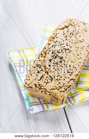 Natural Homemade Seeds And Buckwheat Bread