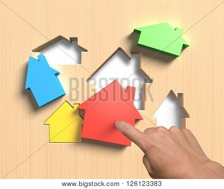 Different Houses Suit House Shape Holes Board With Hand Assembling
