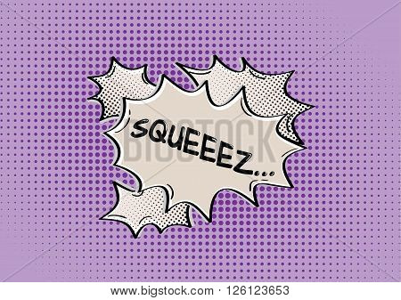 Squeez Comic Speak Bubble
