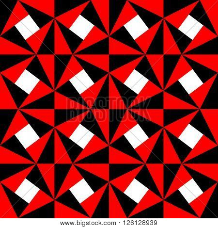 Seamless Geometric Pattern. Vector Black and Red Texture