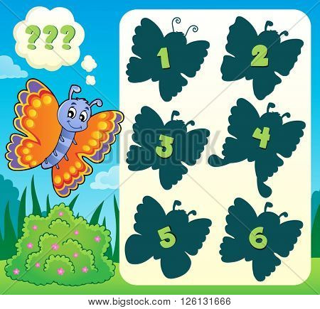 Butterfly riddle theme image 1 - eps10 vector illustration.