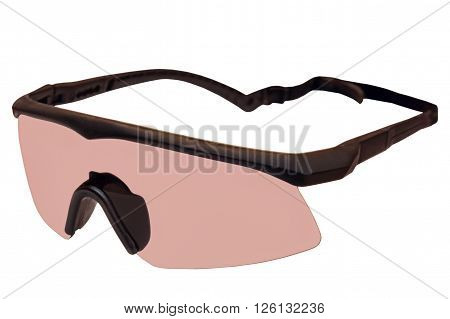 Military tactical goggles isolated on white background.