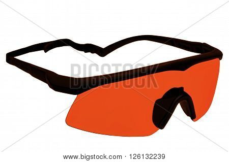 Military tactical goggles isolated on white.Digitally altered image