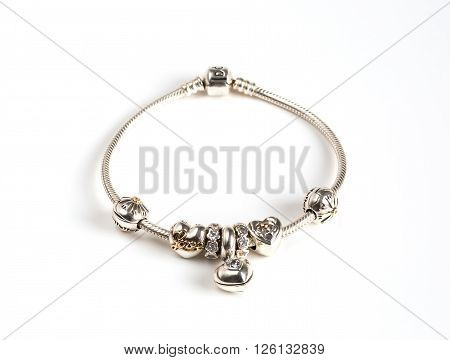 jewelry bracelet female on a white background amulets jewelry macro