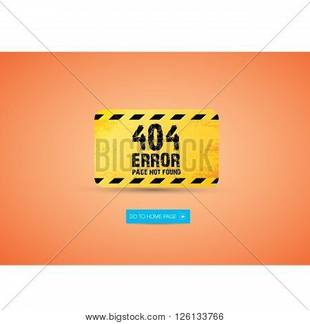 Creative page not found, 404 error design.