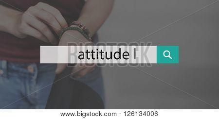 Attitude Person Text Optimistic Mindset Concept