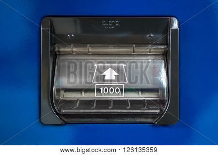 vending Machine banknote insert space