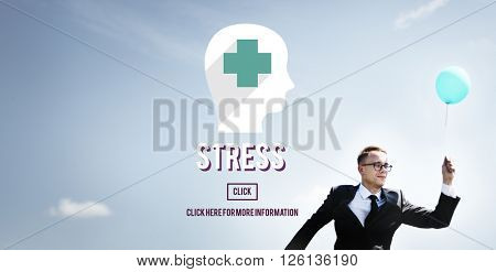 Stress Depression Exhaustion Frustration Panic Concept