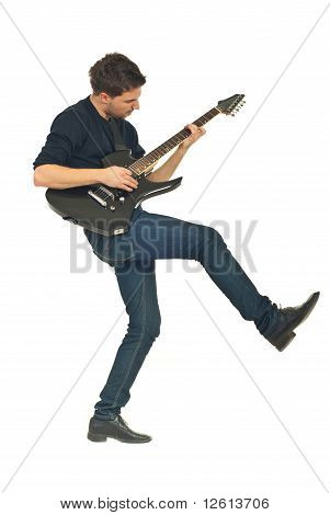 Dancing Man With Guitar