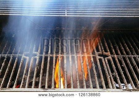 BBQ Grill and glowing coals. You can see more BBQ, grilled food, fire flames in my set ** Note: Soft Focus at 100%, best at smaller sizes