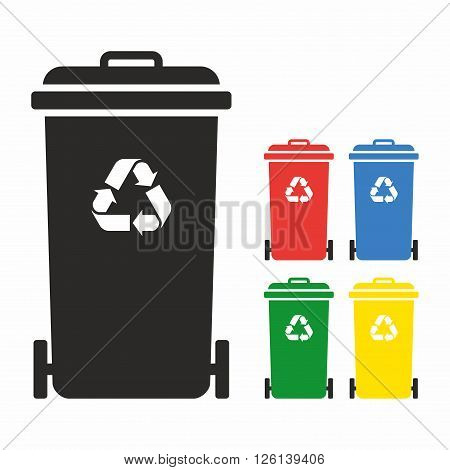 Wheelie bins for different kind of waste
