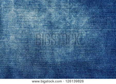 Worn Blue Denim Texture.