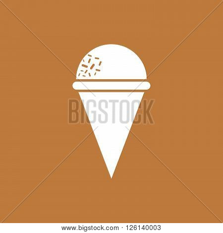 Ice cream cone with messes and light color