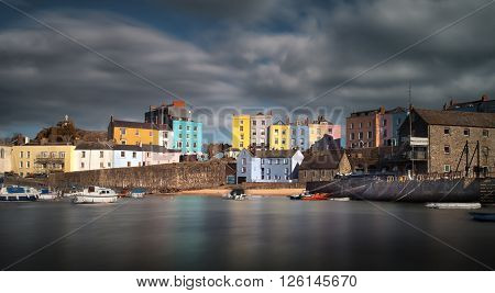 Tenby harbour in Pembrokeshire, the holiday capital of West Wales