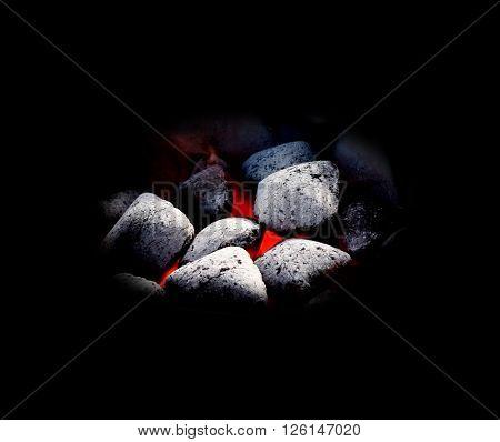 Coal on black