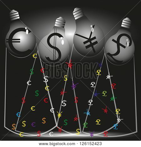 Illustration of four financial stream