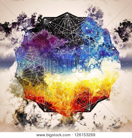 sacred geometry abstraction galaxy inspiration creative idea,