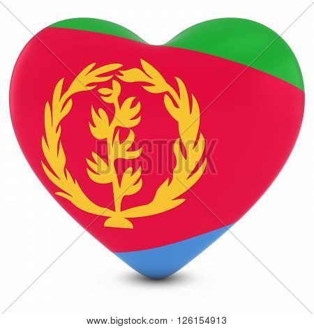 Love Eritrea Concept Image - Heart Textured With Eritrean Flag