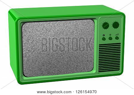 Old tv isolated on white background. 3D rendering.