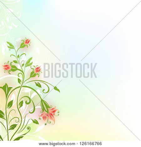 Abstract flower vintage color background with copy space.