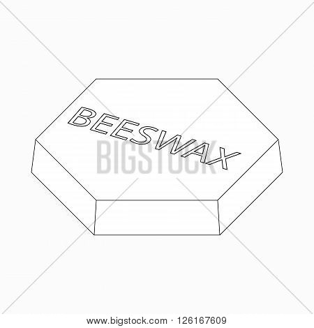 Beeswax icon in isometric 3d style isolated on white background