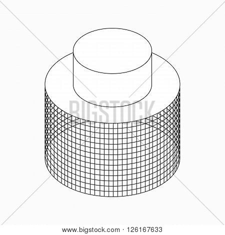 Apiarist mask icon in isometric 3d style isolated on white background