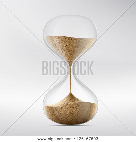 Icon hourglass. Device for measuring time. Stock vector illustration.