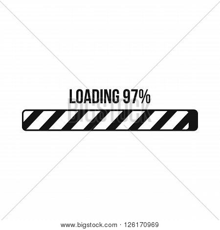 Progress loading bar icon in simple style on a white background