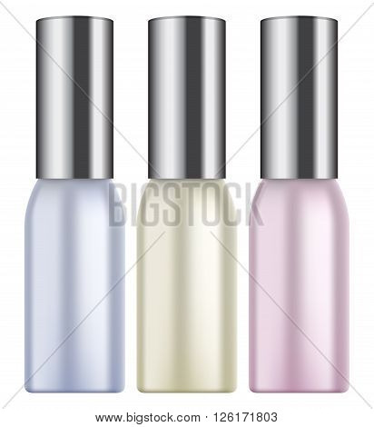 Vector illustration of Photorealistic makeup bottle on white background