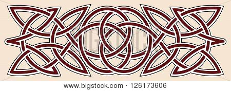 Celtic ornament in the shape of a twisted line.