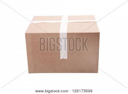 Cardboard box on a white background