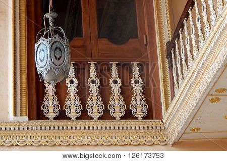 HYDERABAD,INDIA-MARCH 19:Architecture of Chowmahela Palace,built in 1880s,by Nizams of Hyderabad state won award by UNESCO on March 19,2016 in Hyderabad,India