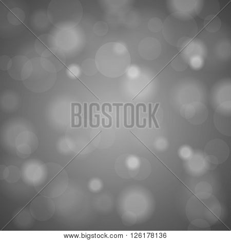Abstract Blurred Background Of Silver  Shiny Christmas Tree Decorations. Vector Illustration