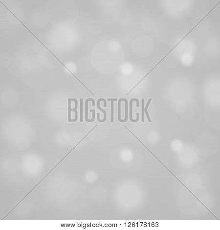 Abstract Blurred Background Of White Shiny Christmas Tree Decorations. Vector Illustration