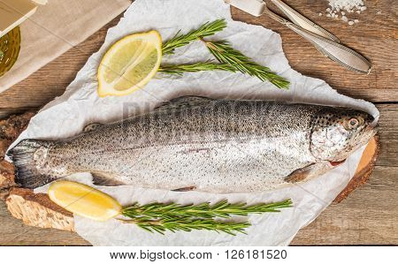 Fresh Trout With Spices And Seasonings