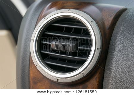 Air conditioner in compact car,  dashboard, auto, cockpit, vehicle,