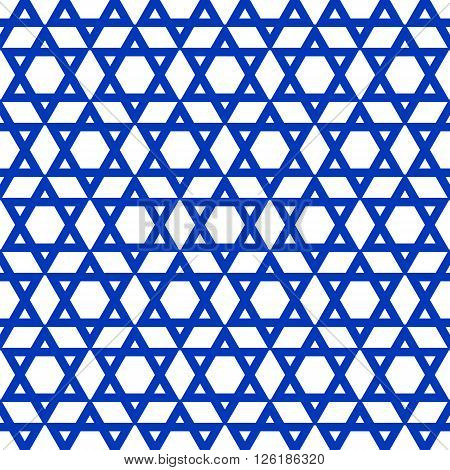 blue six-pointed star pattern - vector illustration. eps 8