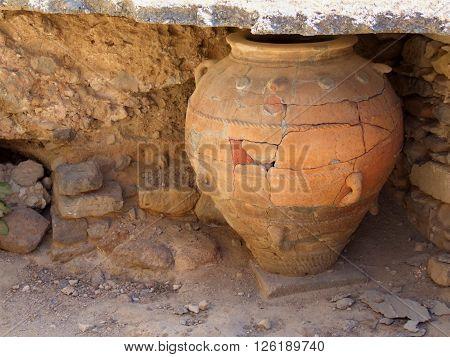 Ancient Minoan Storage Vase - Greece, Crete, Phaistos