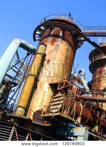 Blast Furnace, The Lower Vitkovice Area, Ostrava, Czech Republic  / Blast Furnace In Metallurgical Area Of Dolni Vitkovice