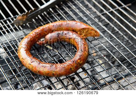 the Northern Thailand sausage on the grill