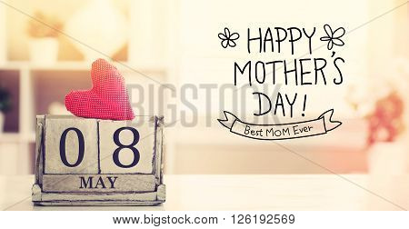 8 May Happy Mothers Day Message With Calendar