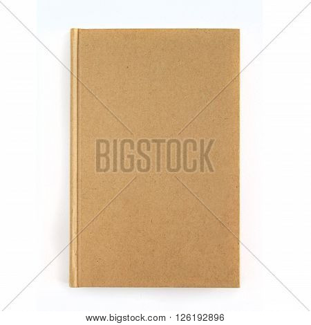Notebook isolated on white background. Brown notepad.