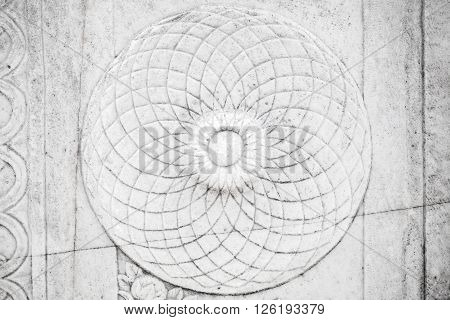 Round Ancient Stone Carving Ornament