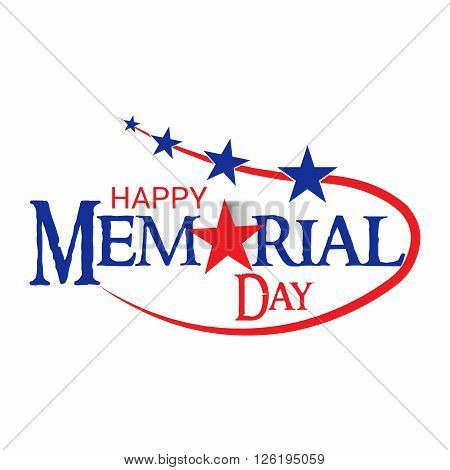 illustration of a stylish text for Happy Memorial Day.