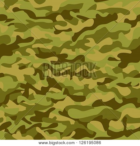 Seamless vector square camouflage green pattern, background